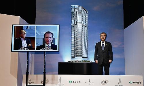 開発事業を発表した、東京建物の野村均代表取締役社長執行役員(写真:東京建物)