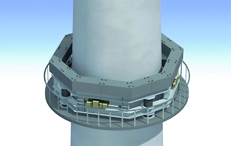 煙突への設置例