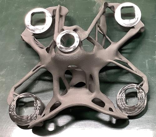 〔写真3〕金属3Dプリンターで製作