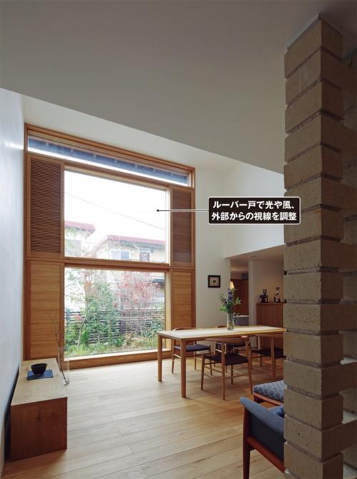 〔写真1〕南向きに大きな窓を配置