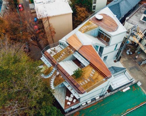 〔写真2〕斜めにした屋上を緑化