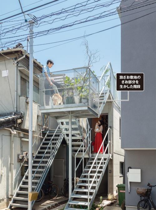 〔写真1〕法改正で開放的な屋外階段が実現