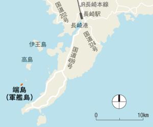 〔図1〕長崎港などから遊覧船も
