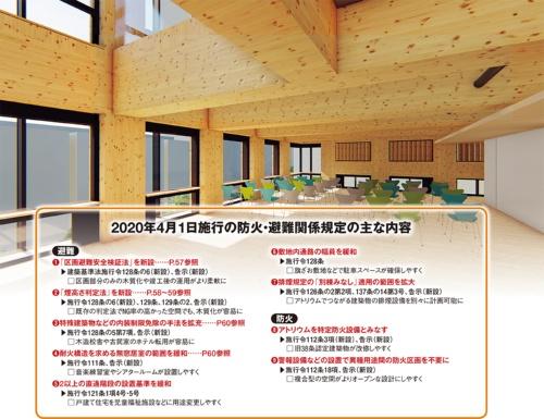 防火・避難規定の見直しは、多岐にわたる。なかでも内装などの木質化や木造のストック活用を後押しする改正が目立つ。上は、大林組が設計・施工を手掛ける地上11階建ての純木造耐火建築物の完成イメージ。新設の判定法でも木質化が可能か検証した(資料:国土交通省の資料を基に日経アーキテクチュアが作成、上のパースは大林組)