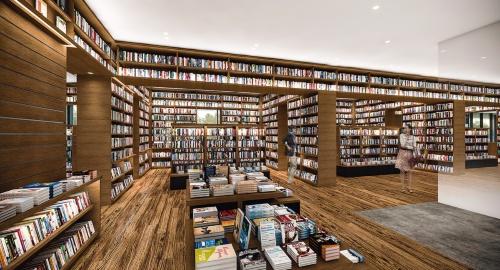 書籍の陳列が完了すれば、上の完成予想図のように書籍が空間を取り囲んだ状態になる(資料:カルチュア・コンビニエンス・クラブ)