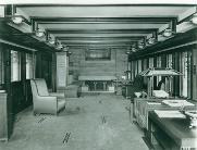 1910年撮影のオリジナルのリビングルーム(写真:Henry Fuermann Courtesy of the Art, Architecture & Engineering Library Special Collections, University of Michigan, Ann Arbor)