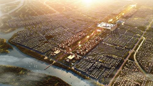 〔図1〕農業地域に「緑と水の都」を建設