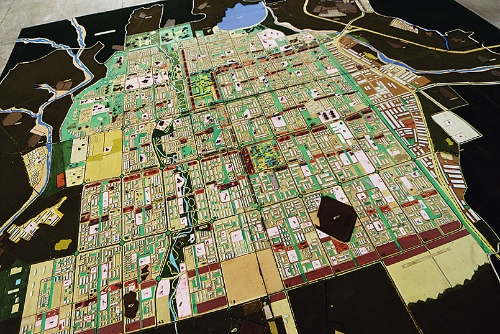 〔写真1〕グリッドプランの都市