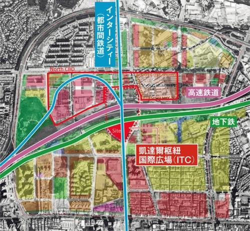 〔図5〕複数の公共交通計画を建築で結ぶ