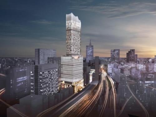 〔図2〕歌舞伎町で存在感を示す高さ225mの超高層ビル