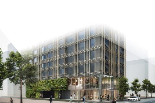 〔図1〕2021年前半に開業の「東京エディション銀座」着工