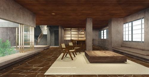 オフィス部分では4階の床スラブの一部を取り払い、吹き抜けを設けた。3階はホテルのスイートルームのようなデザインで、ミーティングなどに使う(資料:サポーズデザインオフィス)