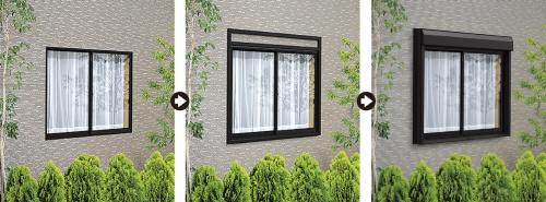 〔写真1〕壁工事や窓の取り外しが不要に