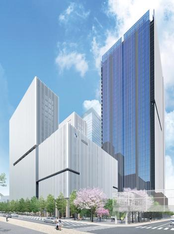 〔図2〕病院に続いて10万m<sup>2</sup>のオフィス開発