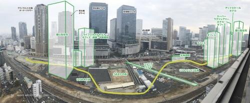 〔写真1〕貨物ヤード跡地の基盤整備が進む