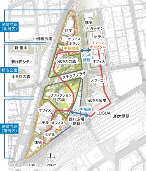 〔図2〕グランフロント大阪との回遊性を向上