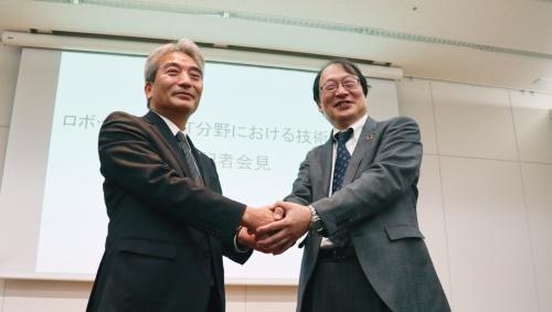 〔写真1〕鹿島と竹中がロボット開発などで異例の協業