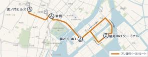東京BRT、プレ運行(一次)、20年5月