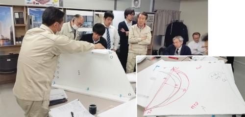 〔写真3〕3次元モデルで解いた納まりを模型で確認