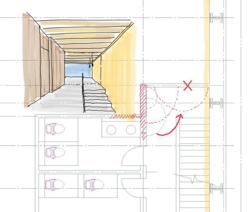 〔図1〕ペン入力なら、図面に指示やパースを書き加えやすい