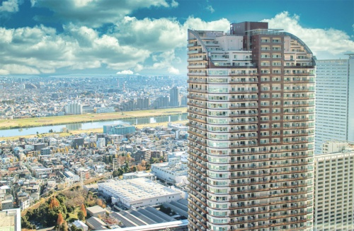 〔写真2〕多摩川を望むタワーマンション