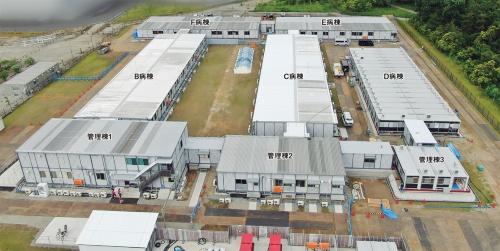 〔写真1〕180床を備えた病棟を約2カ月で完成
