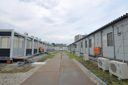 〔写真2〕工事と物資輸送を考慮した施設配置
