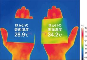 〔図2〕Low-Eコーティングはガラスからの放射を防ぐ