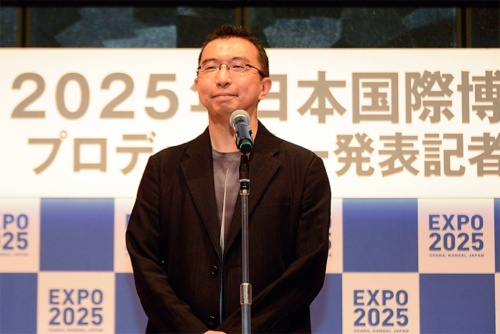 〔写真1〕20年7月、25年大阪・関西万博の会場デザインプロデューサーに就任(写真:2025年日本国際博覧会協会)
