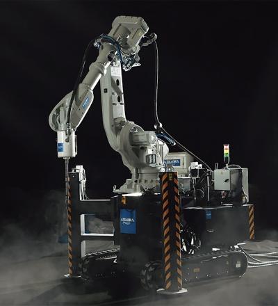 會澤高圧コンクリートが導入した建設3Dプリンター(写真:會澤高圧コンクリート)