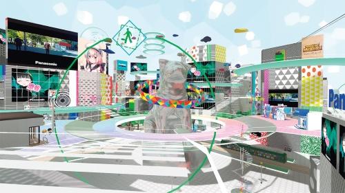 〔図2〕VR空間内に「渋谷」
