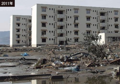陸前高田市に押し寄せた津波の痕跡高は18.3mに達した(写真:池谷 和浩)