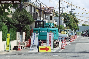 対策工事を実施した東野3丁目地区の様子。2018年8月撮影(写真:奥野 慶四郎)