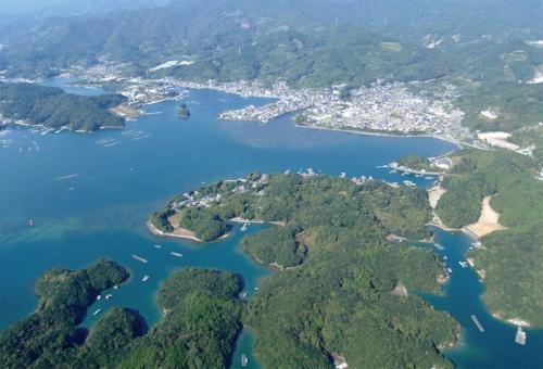 〔写真1〕津波で集落の8割が水没する恐れ
