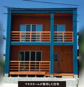 鳥取市で完成した分譲住宅だ。柱が右寄りとなっただけで、ほぼ同一だ(写真:アールシーコア)