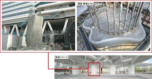 〔図1〕1本の柱を8日で施工