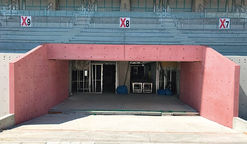 〔写真1〕ピンクのコンクリート