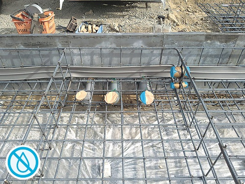 〔写真1〕止水板で浸水防止