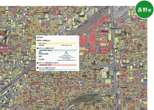 〔図1〕太陽光発電の適正を地図で表示