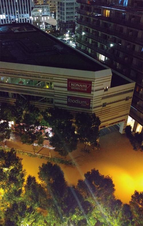 〔写真1〕武蔵小杉駅周辺に濁った水があふれた