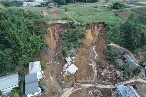 〔写真1〕災害発生までの24時間に400mm近くの雨量