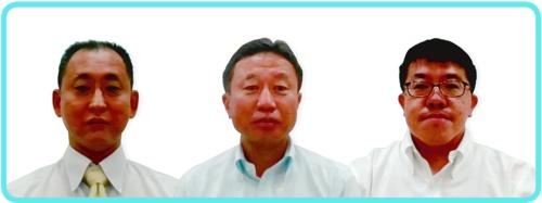 東京センチュリーのRPA推進メンバー。左からIT推進部の高橋真路開発第二グループマネージャー、山口修部長、長良紀宏開発第二グループ次長(画像提供:東京センチュリー)