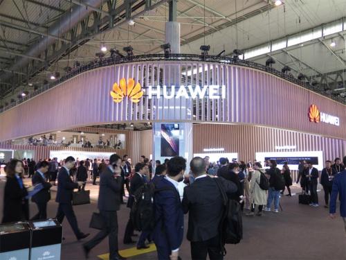 中国ファーウェイの展示ブース