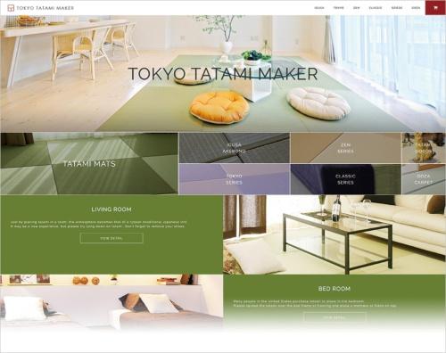 図 TATAMISERによる海外向けの畳製品通販の取り組み