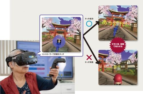 図 VRを活用したリハビリ