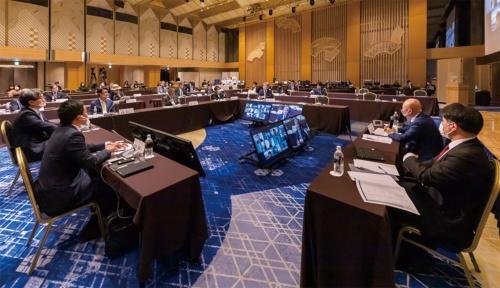 日経BP 総合研究所 イノベーションICTラボが2021年3月17日に開催した「ITイノベーターズ会議」の様子(写真:井上 裕康)