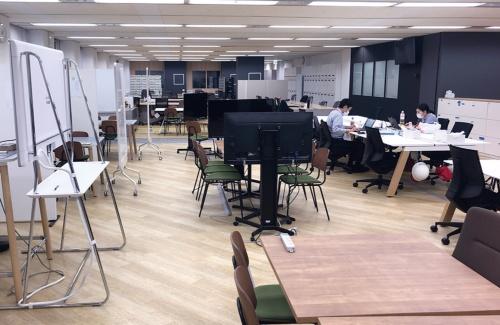 従業員が少なくなった損保ジャパンのオフィス(写真提供:損保ジャパン)