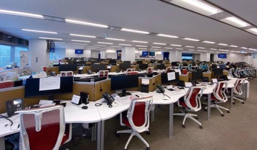 無人となったチューリッヒ保険のコールセンター(写真提供:チューリッヒ保険)