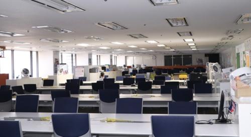 テレワーク中の東京ガスのオフィス(写真提供:東京ガス)