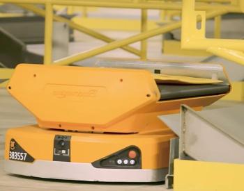 Pegasus Drive Sortationのロボット(写真提供:米アマゾン・ドット・コム)